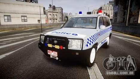 Toyota Land Cruiser 100 2005 Police [ELS] para GTA 4