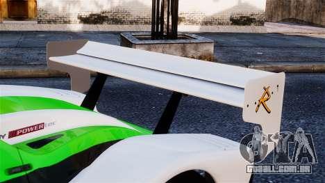 Radical SR8 RX 2011 para GTA 4 vista de volta