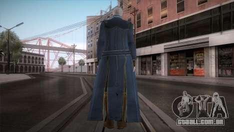 New Vergil from DMC para GTA San Andreas segunda tela