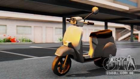 New Faggio para GTA San Andreas traseira esquerda vista