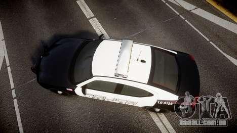 Dodge Charger Police Liberty City [ELS] para GTA 4 vista direita