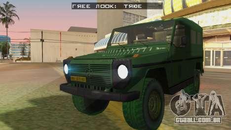 Mercedes-Benz G Wolf Croatian Army para GTA San Andreas traseira esquerda vista