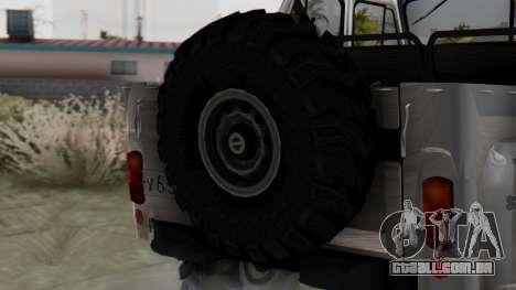 УАЗ 469 Ivan Braginsky para GTA San Andreas traseira esquerda vista