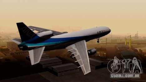 Lockheed L-1011 TriStar All Nippon Airways para GTA San Andreas esquerda vista