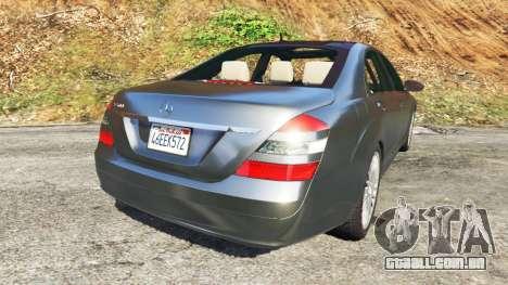GTA 5 Mercedes-Benz S500 W221 v0.2 [Alpha] traseira vista lateral esquerda