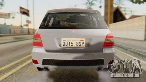 Mercedes-Benz GLK320 2012 para GTA San Andreas vista traseira