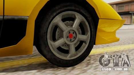 Sportcar2 SA Style para GTA San Andreas traseira esquerda vista