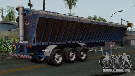 Trailer Silos para GTA San Andreas esquerda vista