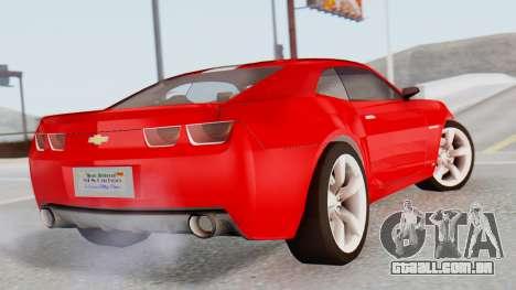 NFS Carbon Chevrolet Camaro para GTA San Andreas esquerda vista