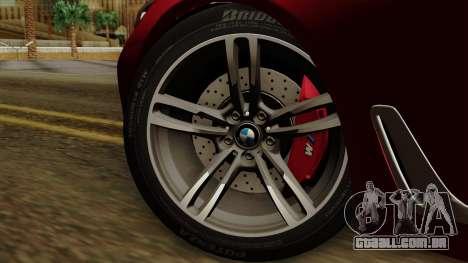 BMW 7 2015 para GTA San Andreas traseira esquerda vista