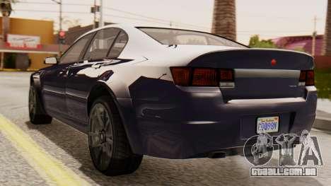 GTA 5 Cheval Fugitive IVF para GTA San Andreas esquerda vista