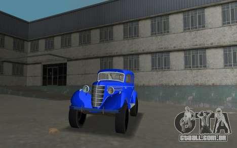 GAZ 11-73 Azul Royal para GTA Vice City vista traseira esquerda