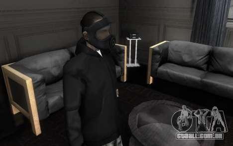 GTA5 Gasmask para GTA San Andreas segunda tela