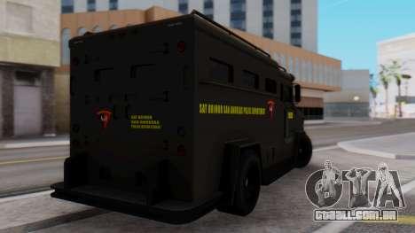 GTA 5 Enforcer Indonesian Police Type 2 para GTA San Andreas esquerda vista
