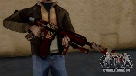 M4A1 Royal Dragon para GTA San Andreas terceira tela