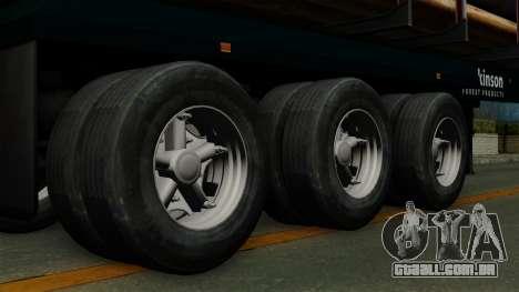 Trailer Log v2 para GTA San Andreas traseira esquerda vista