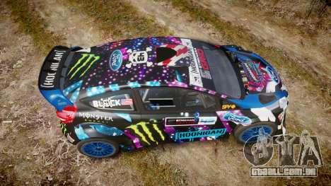 Ford Fiesta RS Ken Block 2015 para GTA 4 vista direita