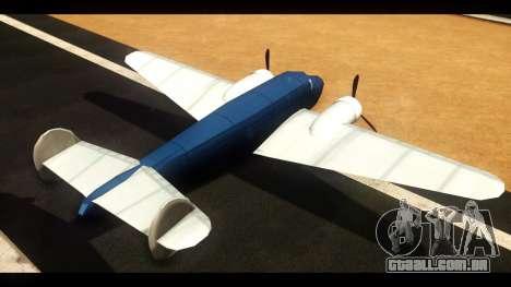 Bomber v1.0 para GTA San Andreas traseira esquerda vista