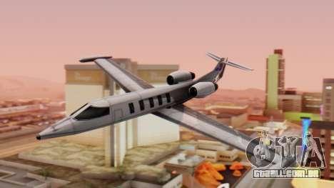 Shamal from GTA Vice City v1.0 para GTA San Andreas traseira esquerda vista
