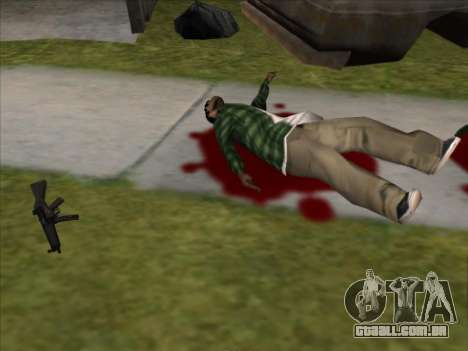 Weapons on the Ground para GTA San Andreas