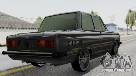 ZAZ 968M para GTA San Andreas esquerda vista