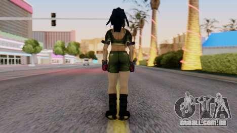 Leona from KoF Maxium Impact para GTA San Andreas terceira tela