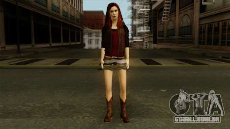 Amy Pond from Doctor Who para GTA San Andreas segunda tela