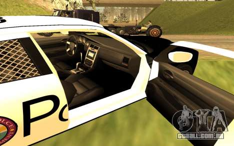 Dodge Charger Super Bee 2008 Vice City Police para GTA San Andreas traseira esquerda vista