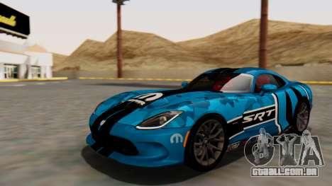 Dodge Viper SRT GTS 2013 HQLM (MQ PJ) para GTA San Andreas vista superior