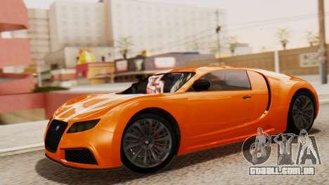GTA 5 Adder Secondary Color para GTA San Andreas traseira esquerda vista