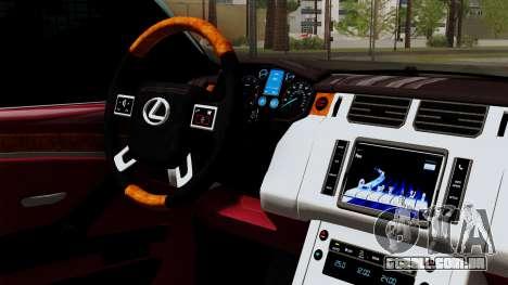 Lexus GX460 2014 v1 para GTA San Andreas vista direita