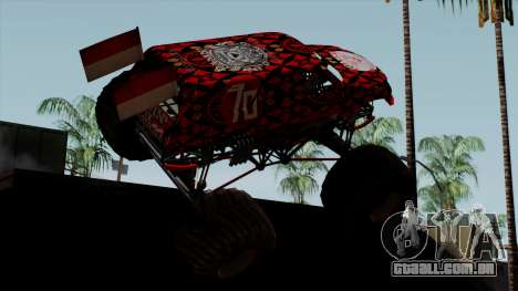 The Seventy Monster v2 para GTA San Andreas esquerda vista