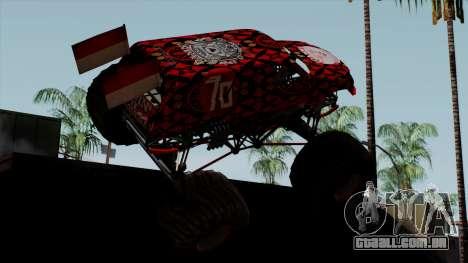 The Seventy Monster v2 para GTA San Andreas esquerda vista