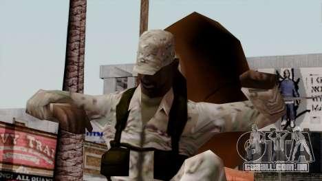 O Africano soldado Americano Multicam para GTA San Andreas