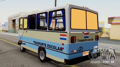 Mercedes-Benz LO-608D Paraguay School Bus para GTA San Andreas esquerda vista