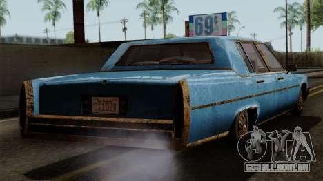 GTA 5 Albany Emperor Worn para GTA San Andreas esquerda vista