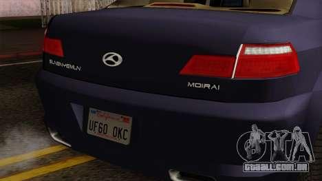 Sungnyemun Moirai IVF para GTA San Andreas traseira esquerda vista