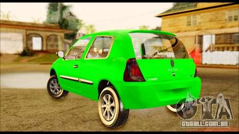 Renault Clio Mio para GTA San Andreas traseira esquerda vista