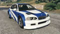 BMW M3 GTR E46 Most Wanted v1.3 para GTA 5