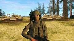 Pak combatentes das tropas especiais de GRU