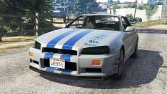 Nissan Skyline R34 GT-R 2002 Fast and Furious para GTA 5