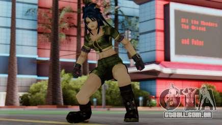 Leona from KoF Maxium Impact para GTA San Andreas