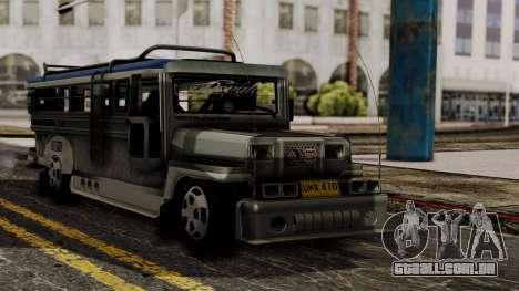 Milwaukee Motors Custom Jeepney para GTA San Andreas