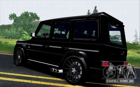 Mercedes Benz G65 Black Star Edition para GTA San Andreas traseira esquerda vista