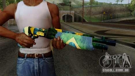 Brasileiro Combat Shotgun v2 para GTA San Andreas terceira tela