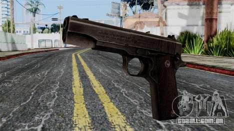Colt M1911 from Battlefield 1942 para GTA San Andreas
