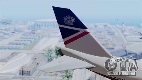 Boeing 747 British Airlines (Landor) para GTA San Andreas traseira esquerda vista