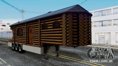 Scania Showtrailer Log Cabin para GTA San Andreas