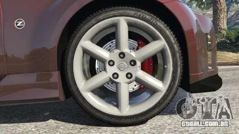 GTA 5 Nissan 350Z traseira direita vista lateral