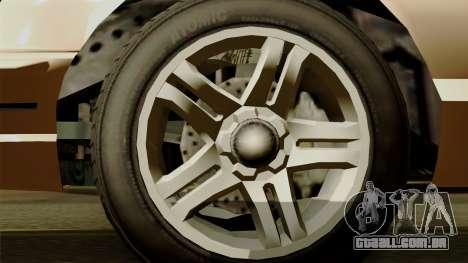 GTA 5 Vapid Stanier I para GTA San Andreas traseira esquerda vista